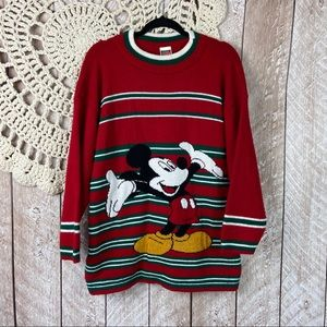 Vintage 90s Mickey Unlimited Striped Sweater